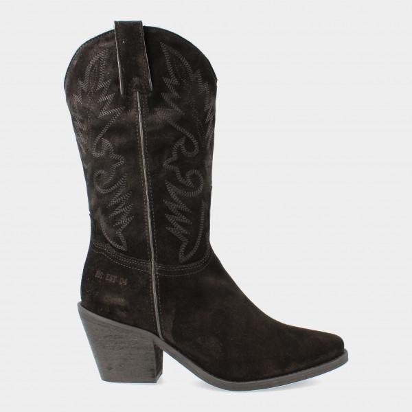 Hoge Zwarte Cowboy Boots   Red-Rag 77048