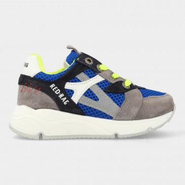Blauwe Sneakers Met Rits | Red-Rag 13051