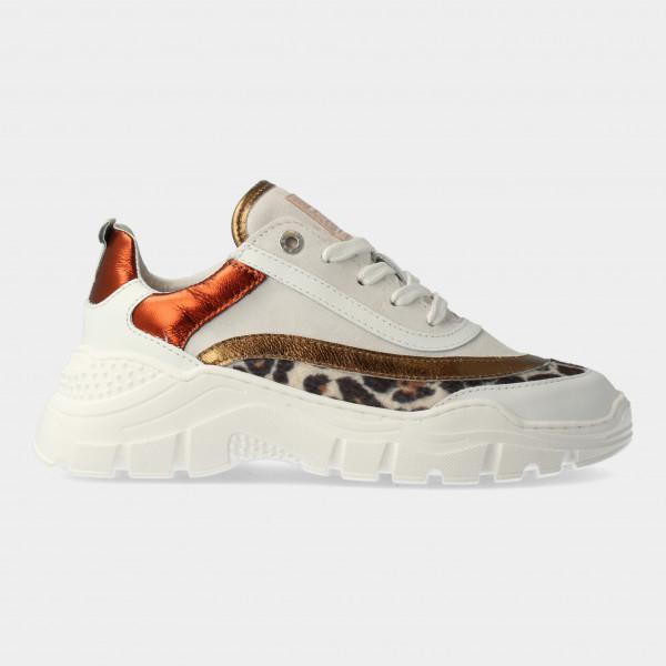 Witte Sneakers Met Leopard Print | Red-Rag 13262