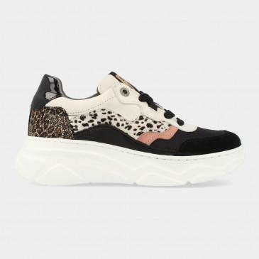 Zwart Witte Sneakers Met Print | Red-Rag 13134