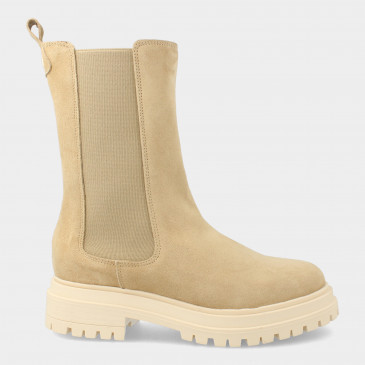 Hoge Beige Chelsea Boots   Red-Rag 71128