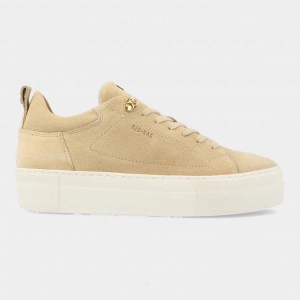 Beige Suede Sneakers   Red-Rag 74462