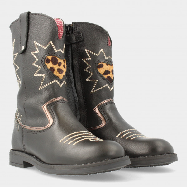 Zwarte Cowboy Laarsjes   Red-Rag 12054