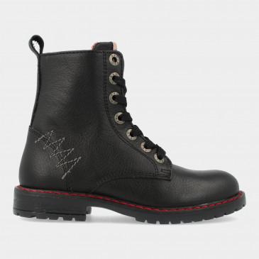 Zwarte Biker Boots   Red-Rag 12288
