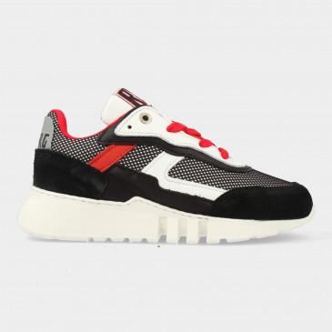Zwart Witte Sneakers   Red-Rag 13197