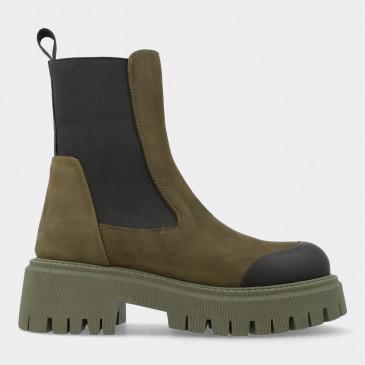 Groene Chelsea Boots | Red-Rag 76884