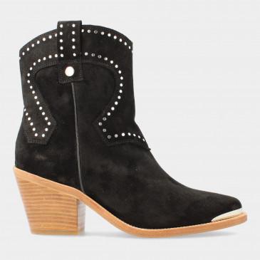 Zwarte Suede Cowboy Laarsjes | Red-Rag 77156