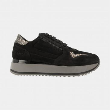 Zwarte Sneakers   Red-Rag 76812