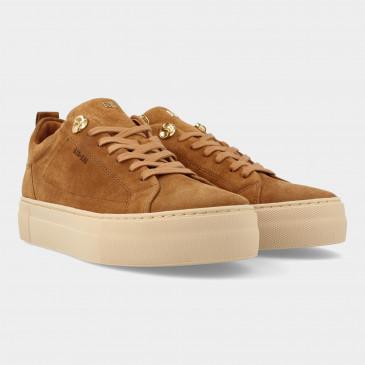Cognac Suede Sneakers   Red-Rag 74462