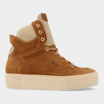 Hoge Cognac Suede Sneakers | Red-Rag 74468