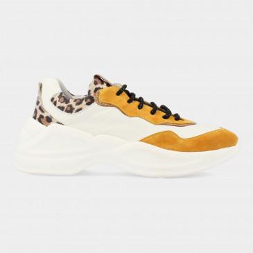 Wit Gele Sneaker Met Print | Red-Rag 76742