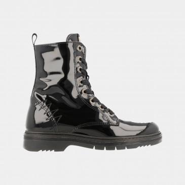 Zwarte Lak Boots | Red-Rag 12106