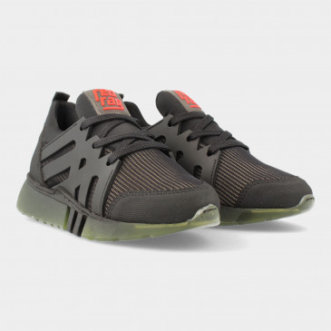 Zwarte Sneakers Met Groene Zool | Red-Rag 13557