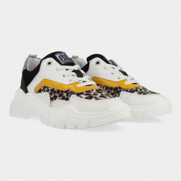 Witte Sneakers Met Leopard Print | Red-Rag 13260