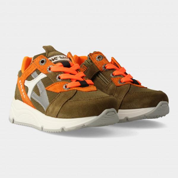 Groene Sneakers Met Rits | Red-Rag 13051