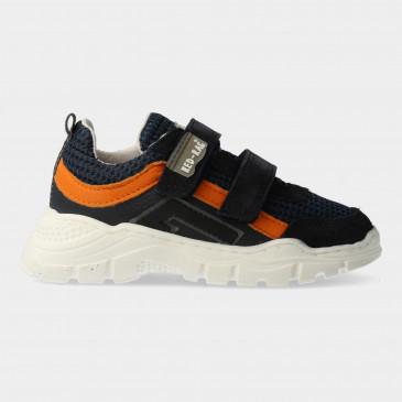 Blauwe Sneakers Met Klittenband | Red-Rag 13439