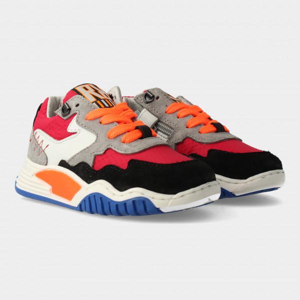 Rode Sneakers Met Rits | Red-Rag 13053