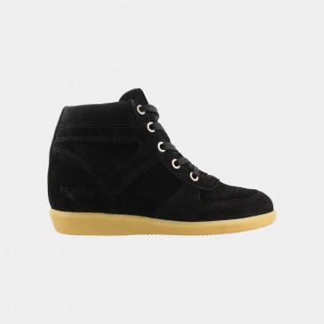 Hoge Zwarte Wedge Sneakers | Red-Rag 11168