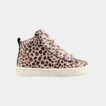 Hoge Roze Sneakers Leopard | Red-Rag 11010