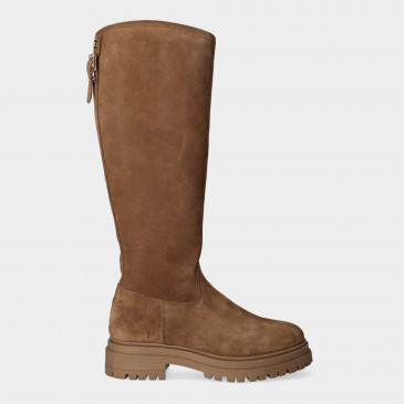 Hoge Taupe Boots   Red-Rag 71244