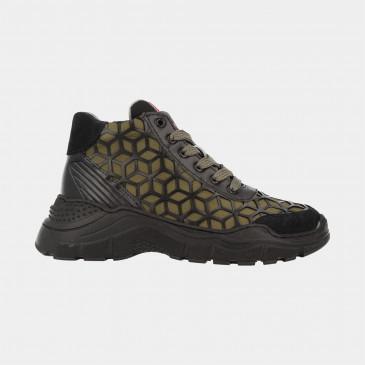 Hoge Groene Sneakers | Red-Rag 13225