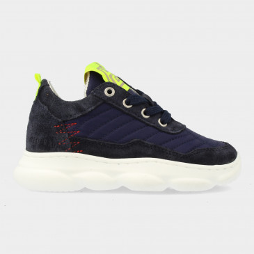 Blauwe Sneakers Met Rits | Red-Rag 13063