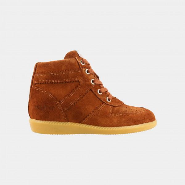 Hoge Cognac Wedge Sneakers | Red-Rag 11168