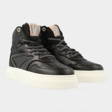 Hoge Zwarte Sneakers   Red-Rag 13144