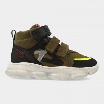 Hoge Groene Sneakers Met Klittenband   Red-Rag 13507