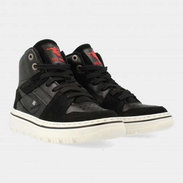 Hoge Zwarte Sneakers   Red-Rag 13543
