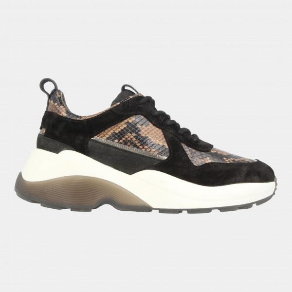 Bruine Sneakers Suede Snake   Red-Rag 77142