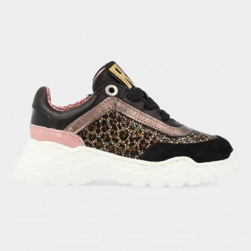 Zwarte Sneakers Met Dieren Print | Red-Rag 13126