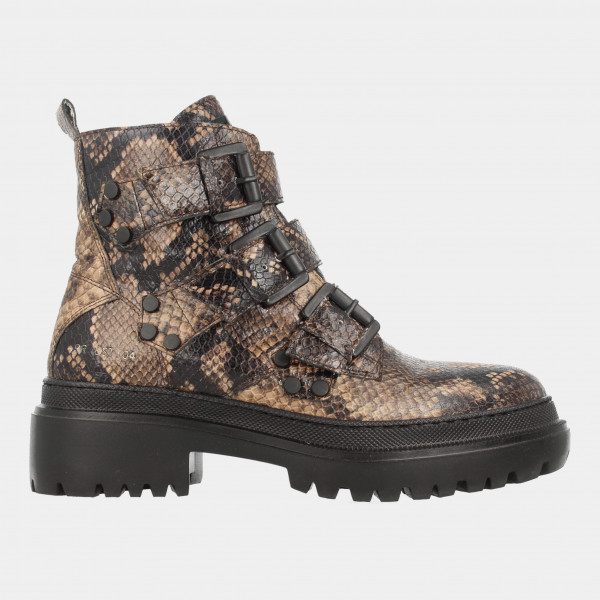 Bruine Biker Boot Snake   Red-Rag 74382