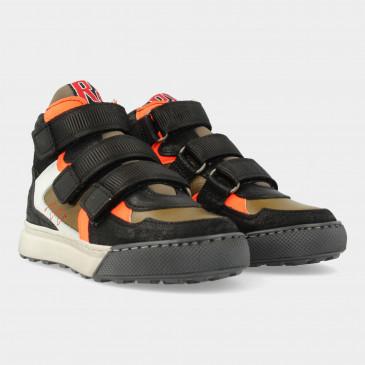 Hoge Groene Sneakers Met Klittenband | Red-Rag 13503