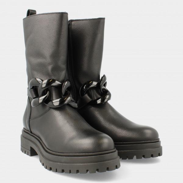 Hoge Zwarte Boots   Red-Rag 71282