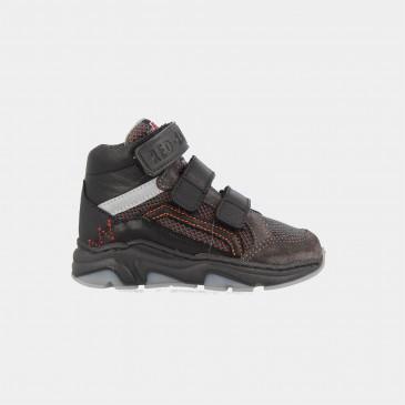 Hoge Grijze Sneakers Klittenband | Red-Rag 13189