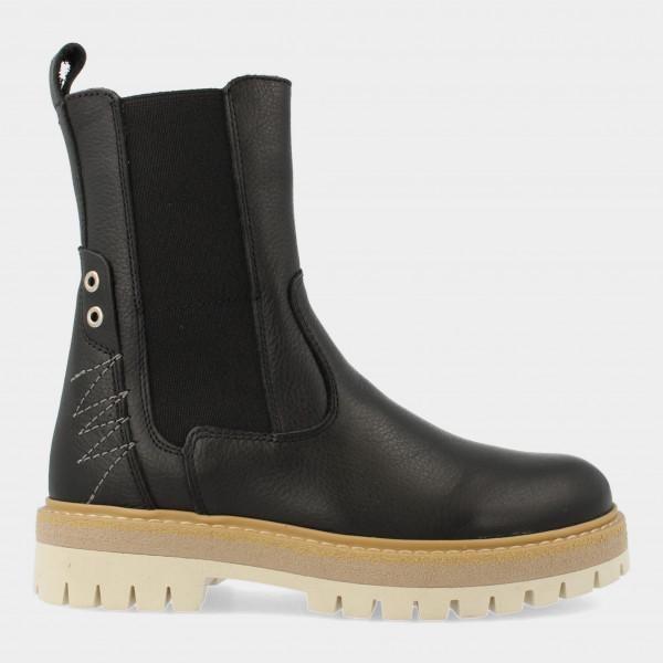 Hoge Zwarte Chelsea Boots   Red-Rag 12316