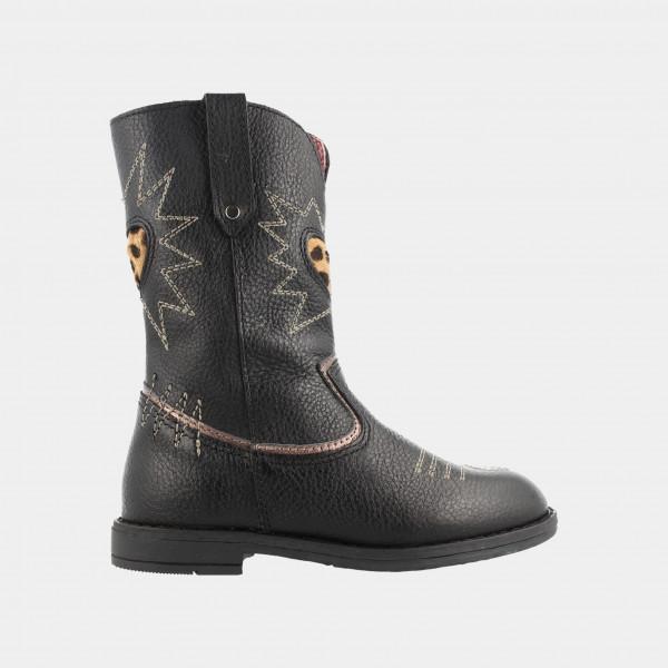Zwarte Cowboy Laarzen | Red-Rag 12054