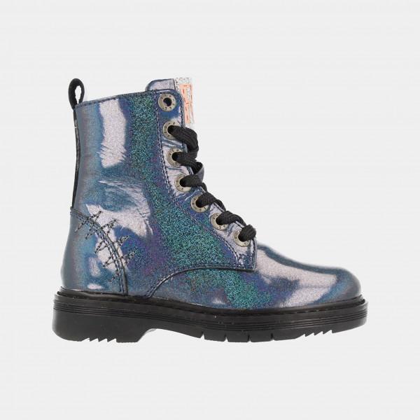 Blauwe Glitter Boots | Red-Rag 12034