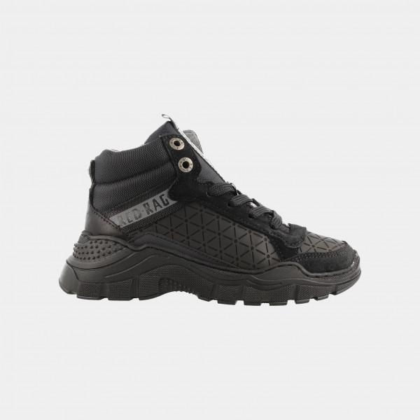 Hoge Zwarte Sneakers | Red-Rag 13289