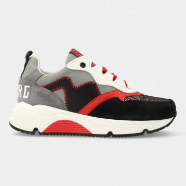 Grijs Rode Sneakers | Red-Rag 13089