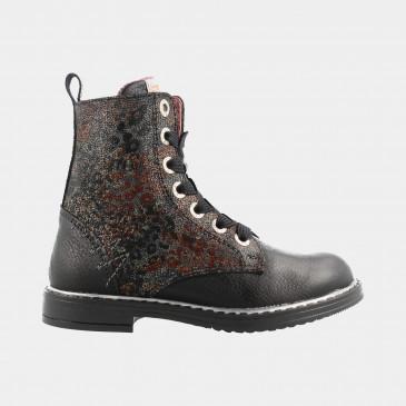 Zwarte Boots   Red-Rag 12094