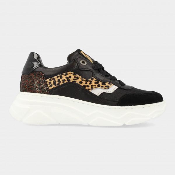 Zwarte Sneakers Met Print | Red-Rag 13134