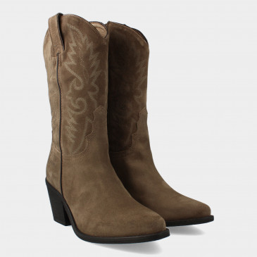 Hoge Taupe Cowboy Boots   Red-Rag 77048
