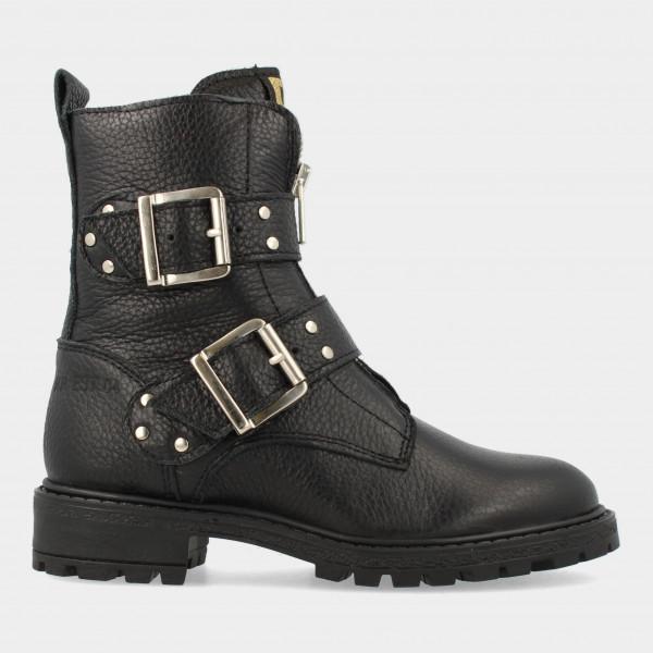 Zwarte Biker Boots   Red-Rag 11184