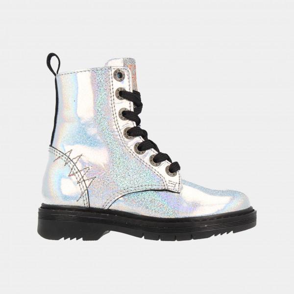 Zilveren Glitter Boots   Red-Rag 12034
