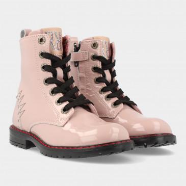 Roze Lak Biker Boots   Red-Rag 12288