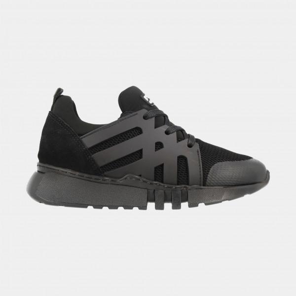 Zwarte Sneakers Laag   Red-Rag 13243