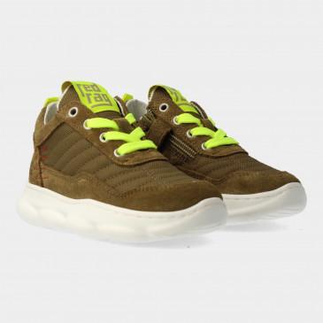 Groene Sneakers Met Rits | Red-Rag 13063