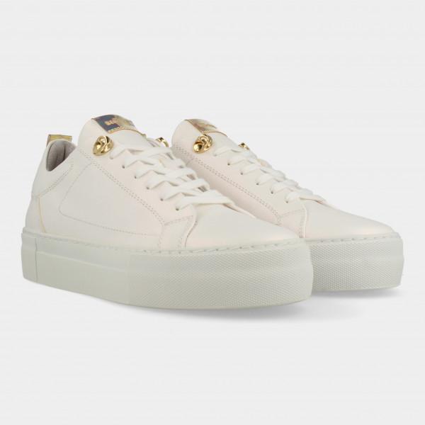 Witte Sneakers Met Parelmoer Glans | Red-Rag 74406